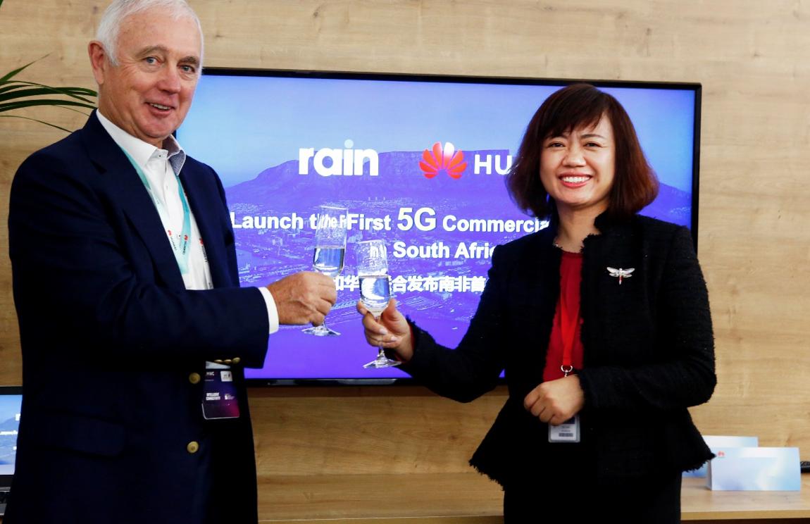 南非移动数据运营商rain和华为在非洲发布了首个5G独立商业网络